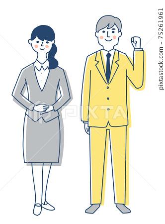商務人士男性和女性全身 75261961