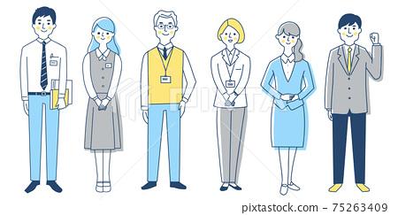商務人士6男女全身套裝 75263409