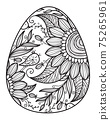 Vector Easter egg shape for coloring. 75265961