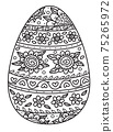 Vector Easter egg shape for coloring. 75265972