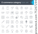 Online shopping and e-commerce category linear icons set isolated on white background. High quality vector 75267294