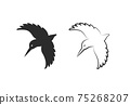 Vector of kingfishers bird design isolated on white background. Easy editable layered vector illustration. Wild Animals. 75268207