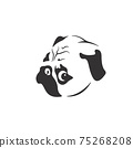 Vector of pug dog face design on white background. Easy editable layered vector illustration. Pet. Animals. 75268208