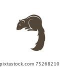 Vector of chipmunk design on white background. Easy editable layered vector illustration. Wild Animals. 75268210