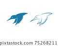 Vector of kingfishers bird design isolated on white background. Easy editable layered vector illustration. Wild Animals. 75268211