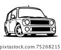 崔湄輕型汽車著色書風格的汽車插圖 75268215