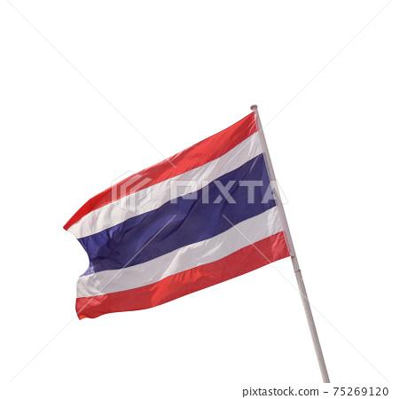 Flag of Thailand over white background 75269120