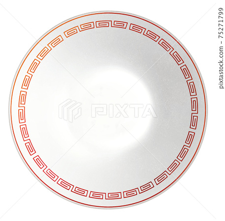 Ramen bowl illustration real 75271799
