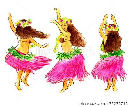 大溪地舞的女孩 75273713