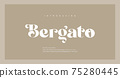 Elegant luxury alphabet letters font. Classic Lettering Minimal Modern Fashion Designs. Typography modern serif fonts regular decorative vintage concept. vector illustration 75280445