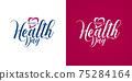 World Health Day Calligraphic Medical Logos 75284164