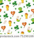 Saint Patrick s Day seamless pattern. Holiday Vector Illustration Background 75290166