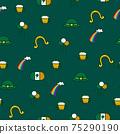 Saint Patrick s Day seamless pattern. Holiday Vector Illustration Background 75290190