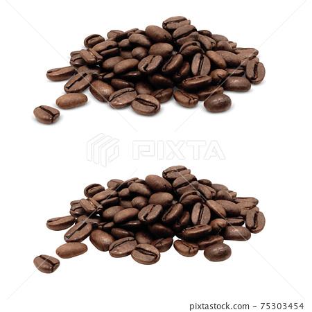 咖啡豆咖啡豆圖真實 75303454