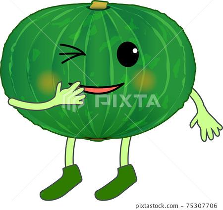 Laughing cute pumpkin character 75307706