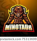 Minotaur mascot esport logo design 75313699