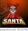 Santa claus mascot esport logo design 75313702