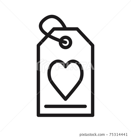 prize tag, valentine sale icon vector illustration isolated on white 75314441