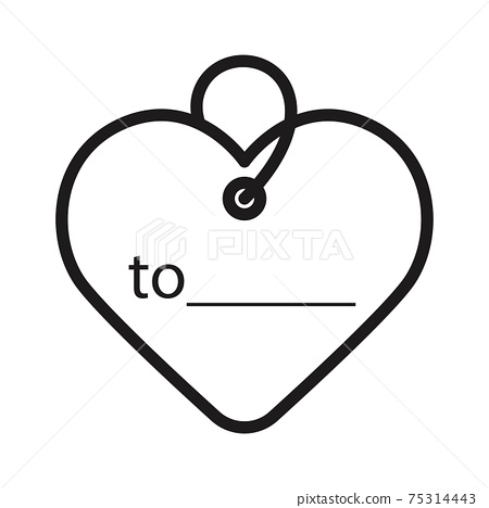 heart with key with sending greeting card to . icon vector illustration isolated on white 75314443