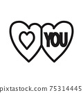 love you icon vector illustration isolated on white 75314445