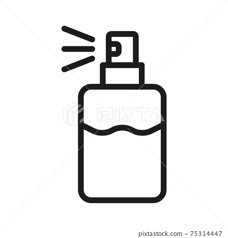 perfume spray can isolated on white icon vector illustration isolated on white 75314447
