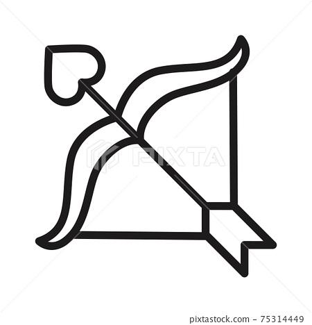 love arrow, valentine icon vector illustration isolated on white 75314449