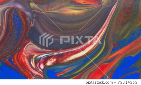 Abstract colorful background of spreading colors. Abstract red paint background. 75314555