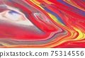 Abstract colorful background of spreading colors. Abstract red paint background. 75314556