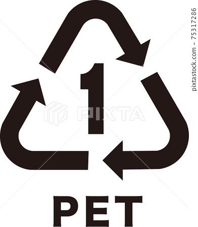 PET bottle recycling mark 75317286