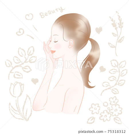 一個美麗的皮膚的女人 75318312