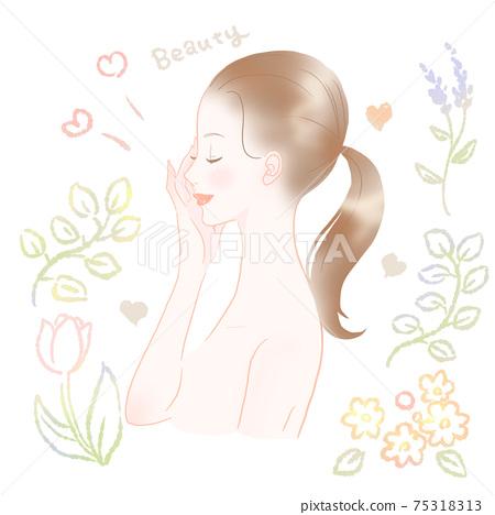 美麗的皮膚,多彩的女人 75318313