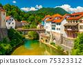 Cityscape of Skofja Loka, Slovenia 75323312