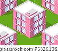 Seamless urban plan pattern map. Isometric landscape 75329139
