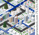 Isometric set of blocks module of areas of the city construction 75329179