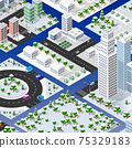 Isometric set of blocks module of areas of the city construction 75329183