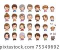 가족 변화 일러스트 75349692