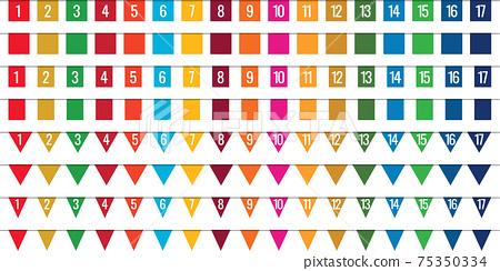 SDG顏色連續標記,標記材料 75350334