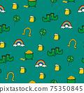 Saint Patrick s Day seamless pattern. Holiday Vector Illustration Background 75350845