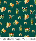 Saint Patrick s Day seamless pattern. Holiday Vector Illustration Background 75350848