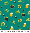 Saint Patrick s Day seamless pattern. Holiday Vector Illustration Background 75350849