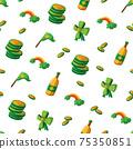 Saint Patrick s Day seamless pattern. Holiday Vector Illustration Background 75350851