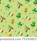 Saint Patrick s Day seamless pattern. Holiday Vector Illustration Background 75350852