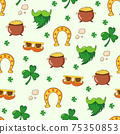 Saint Patrick s Day seamless pattern. Holiday Vector Illustration Background 75350853