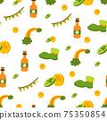 Saint Patrick s Day seamless pattern. Holiday Vector Illustration Background 75350854