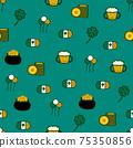 Saint Patrick s Day seamless pattern. Holiday Vector Illustration Background 75350856