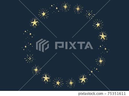閃光星框圓形la子 75351611