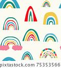 彩虹無縫圖案背景素材 75353566