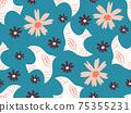 花鳥背景素材無縫圖案 75355231