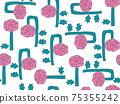 花背景素材無縫圖案 75355242