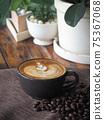 coffee cup latte art 75367068